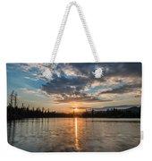 Lower Sunset Lake Weekender Tote Bag