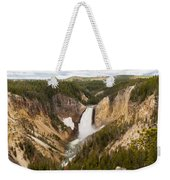 Lower Yellowstone Canyon Falls Weekender Tote Bag