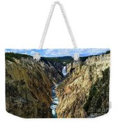 Lower Yellowstone Falls Panorama 2 Weekender Tote Bag