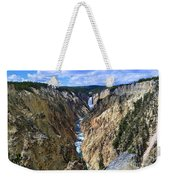 Lower Yellowstone Falls Panorama Weekender Tote Bag