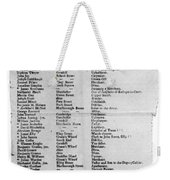 Loyalists, 1774 Weekender Tote Bag