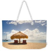 Lucian Beach Hut Weekender Tote Bag