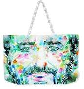 Luciano Pavarotti - Watercolor Portrait Weekender Tote Bag