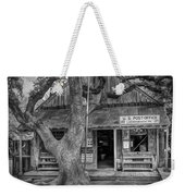 Luckenbach 2 Black And White Weekender Tote Bag