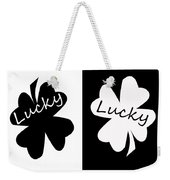 Lucky Four Leaf Clover Digital Painting Weekender Tote Bag