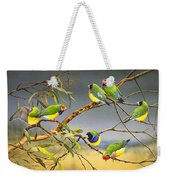 Lucky Seven - Gouldian Finches Weekender Tote Bag