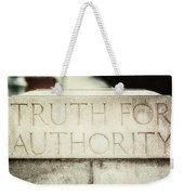 Lucretia Mott Truth For Authority Weekender Tote Bag
