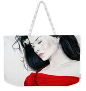 Lucy Liu The Lady In Red Weekender Tote Bag