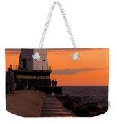 Ludington Pier And Lighthouse Weekender Tote Bag