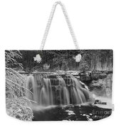 Ludlowville Falls In Winter I Weekender Tote Bag
