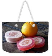 Luffa Red And Pink Soap Weekender Tote Bag
