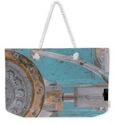 Lug Nut Wheel Left Turquoise And Copper Weekender Tote Bag