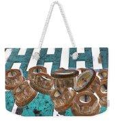 Lug Nuts On Grate Vertical Turquoise Copper Weekender Tote Bag