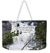 Luke 1 37  Weekender Tote Bag