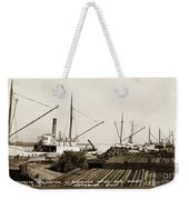 Lumber Steamers Unloading At Redwood Mfg. Co.s Wharf Pittsburg Circa 1920 Weekender Tote Bag
