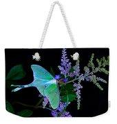 Luna Moth Astilby Flower Black Weekender Tote Bag