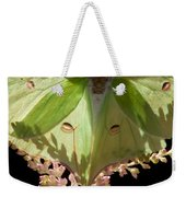 Luna Moth Faux Eyes Weekender Tote Bag
