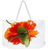Luna Moth Poppy High Key Weekender Tote Bag