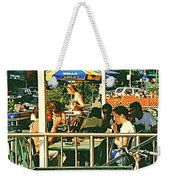 Lunch Party At The La Belle Gueule Brasserie Terrace - Park Your Bike And Enjoy The Sunny Day Weekender Tote Bag