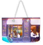 Lunch Time At The Cafe St Regis In Paris Weekender Tote Bag