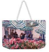 Lunch Under Umbrellas Weekender Tote Bag by Kris Parins