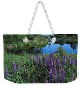 Lupin And Lake-v Weekender Tote Bag