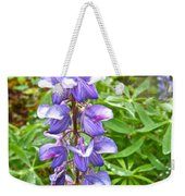 Lupine Along Trail To Rancheria Falls In Yk-canada   Weekender Tote Bag