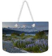 Lupine And Mount Elias Weekender Tote Bag
