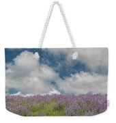 Lupine Field Under Clouds Weekender Tote Bag