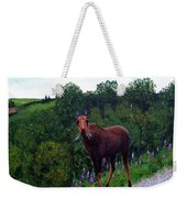 Lupine Loving Moose Weekender Tote Bag