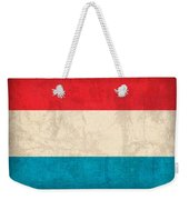 Luxembourg Flag Vintage Distressed Finish Weekender Tote Bag