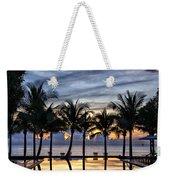 Luxury Infinity Pool At Sunset Weekender Tote Bag