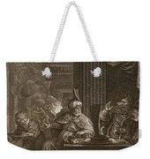 Lycaon Metamorphosed Into A Wolf, 1731 Weekender Tote Bag by Bernard Picart
