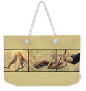 Lying At The Sand Weekender Tote Bag