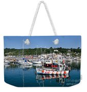 Lyme Regis Harbour On A July Morning Weekender Tote Bag