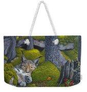 Lynx In The Sun Weekender Tote Bag