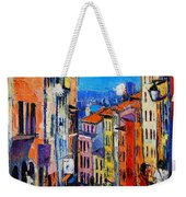 Lyon Colorful Cityscape Weekender Tote Bag