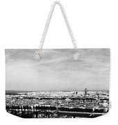 Lyon From The Basilique De Fourviere-bw Weekender Tote Bag