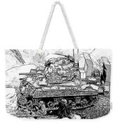 M 4 Sherman Break Out From Normandy Weekender Tote Bag