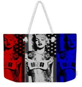 M M U S A In Red White And Blue Weekender Tote Bag