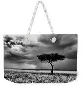 Maasai Mara In Black And White Weekender Tote Bag