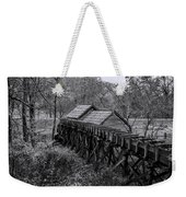 Mabry Mill Water Shute In Black And White Weekender Tote Bag
