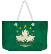 Macau Flag Vintage Distressed Finish Weekender Tote Bag