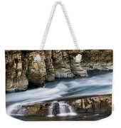 Macdonald Creek Falls Glacier National Park Weekender Tote Bag