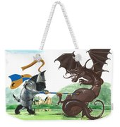 Macduff And The Dragon Weekender Tote Bag by Margaryta Yermolayeva