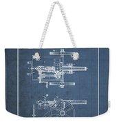 Machine Gun - Automatic Cannon By C.e. Barnes - Vintage Patent Blueprint Weekender Tote Bag