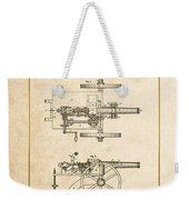 Machine Gun - Automatic Cannon By C.e. Barnes - Vintage Patent Document Weekender Tote Bag