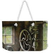 Machine Shop - An Old Drill Press Weekender Tote Bag