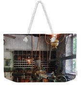 Machine Shop With Lantern Weekender Tote Bag
