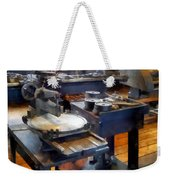 Machine Shop With Punch Press Weekender Tote Bag